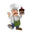 cook chief master chief cartoon character vector image