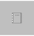 copybook computer symbol vector image