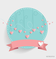 Cute card with ribbon and heart vector image vector image