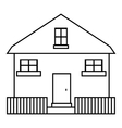 Cute house icon outline style vector image vector image