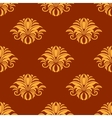 Dainty yellow colored floral seamless pattern vector image vector image