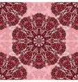 Decorative seamless floral pattern round vector image vector image