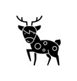 deer icon black sign on vector image vector image