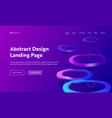 geometric abstract purple distortion landing page vector image vector image
