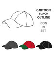 golf cap icon in cartoon style isolated on white vector image vector image