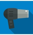 Hair dryer flat icon vector image vector image