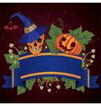 halloween with skull vector image vector image
