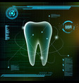 human tooth futuristic infographic design vector image vector image