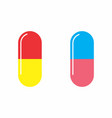 isolated medicine capsules vector image