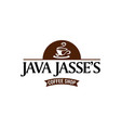 java coffee shop logo sign symbol icon vector image