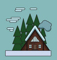 landscape home in wood flat home vector image vector image