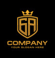 letter ga logo design vector image vector image