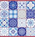 lisbon azujelo seamless tiles design vector image vector image