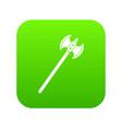poleaxe icon digital green vector image vector image