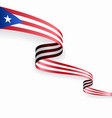 puerto rican flag wavy abstract background vector image vector image