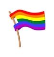 Rainbow flag cartoon icon vector image vector image