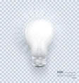 Realistic bulb with Light Effects on clean vector image vector image