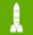 rocket icon green vector image