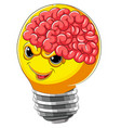 scary bulb with brain vector image