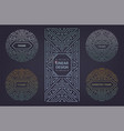 set art deco borders and frames vector image