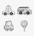 set different transportation patches element vector image