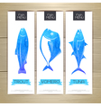 Set of fish seafood banners Document template vector image