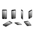 set of smartphones in 3d vector image vector image