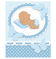Sleeping african baby boy vector | Price: 3 Credits (USD $3)