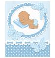 Sleeping African baby boy vector image vector image