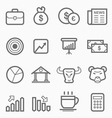 stock and market symbol line icon set vector image vector image