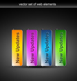 stylish colorful web buttons vector image vector image