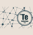 tellurium chemical element vector image vector image