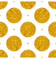 tile pattern with big golden polka dots on white vector image vector image