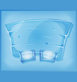 transparent glass agreement panel for ui game vector image vector image