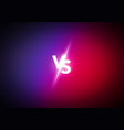versus screen design concept vs letters vector image
