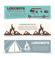 vintage camping banners template collection vector image vector image