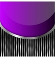 violet glass on stripes background vector image vector image