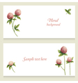 Watercolor floral banners painted by hand vector image vector image
