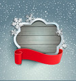 winter background with vintage frame vector image vector image
