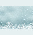 winter holiday background with snow vector image vector image