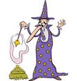 wizard fantasy cartoon vector image vector image