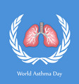 world asthma day background vector image