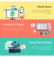 media objects World news vector image