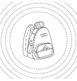 Black and white backpack hand drawn