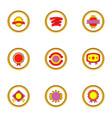 quality mark icons set cartoon style vector image