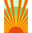 sun rays backdrop with gradient sky vector image