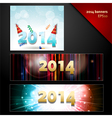 2014 new year banners vector image vector image