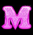 M letter pink bling girly