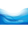 abstract blue wavy background graphic vector image