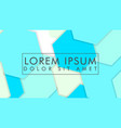 abstract colorful hexagon background vector image vector image